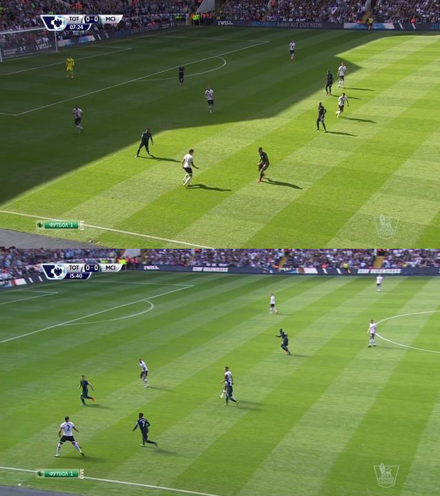 City było na początku dość aktywne w naciskaniu przeciwnika, używając do tego nawet 5-6 graczy.